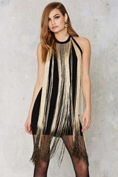 Nasty Gal Glamorous Slay In Ombre Fringe Dress