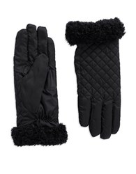 Echo Fleece Trimmed Gloves Black