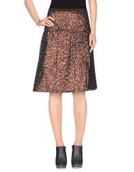 Ndegree 21 Knee Length Skirts Copper