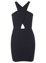 Miss Selfridge Petites Black Choker Bodycon