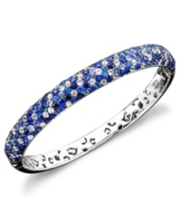 Effy Collection Saph Splash By Effy Shades Of Sapphire Bangle Bracelet 10 3 8 Ct. T.W. In Sterling Silver