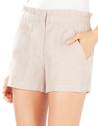 Bcbgmaxazria Addison Paper Bag Shorts Light Taupe