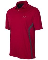 Greg Norman For Tasso Elba Men's Rapichill Performance Golf Polo Bright Crimson