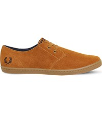 Fred Perry Byron Suede Trainers Ginger Chocolate