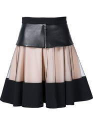 David Koma Layered Skirt Black