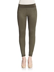 Willow And Clay Faux Suede Leggings Olive