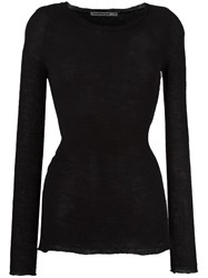 Transit Round Neck Jumper Black
