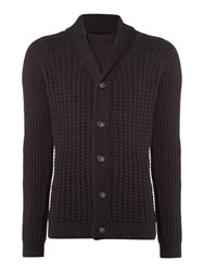 Label Lab Men's Chatham Chunky Knit Cardigan Charcoal