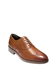 Cole Haan Henry Grand Short Wingtip Oxfords British Tan