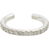 Finn Pave Diamond And White Gold Ear Cuff