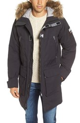 Helly Hansen Men's 'Legacy' Regular Fit Long Jacket With Faux Fur Trim