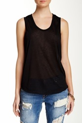 Angie Scoop Neck Tank Juniors Black
