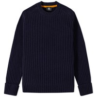 Paul Smith Ribbed Military Crew Knit Blue
