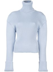 Jacquemus Oversized Shoulder Jumper Blue