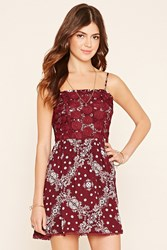 Forever 21 Embroidered Floral Cami Dress