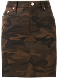 Guild Prime Camouflage Print Skirt Brown