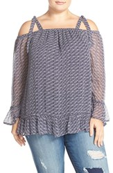 Lucky Brand Plus Size Women's Off The Shoulder Top