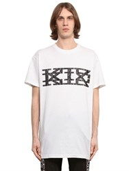 Ktz Rubberized Logo Cotton Jersey T Shirt
