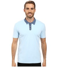 Agave Usal Short Sleeve Polo Cool Blue Men's Short Sleeve Pullover