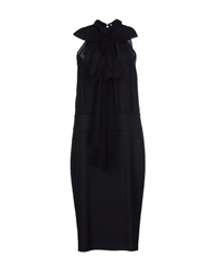 Lorna Bose' Knee Length Dresses Black