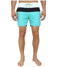Scotch And Soda Medium Color Block Swimshorts Teal Men's Swimwear Blue