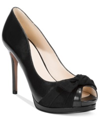 Nine West Fealey Platform Dress Pumps Women's Shoes Black