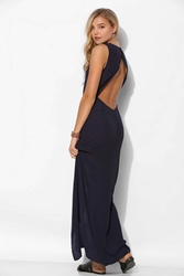 Glamorous Slit Front Maxi Dress Navy