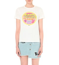 Mini Cream Bubble Print T Shirt White
