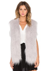 J.O.A. Faux Fur Vest Gray