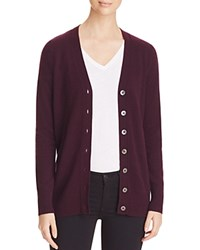 Bloomingdale's C By Grandfather Cashmere Cardigan Eggplant