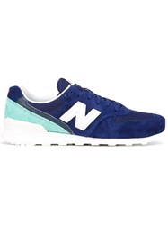 New Balance Contrast Ankle Sneakers Blue