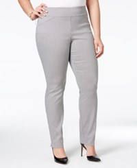 Charter Club Plus Size Houndstooth Print Pants Only At Macy's Deep Black Combo