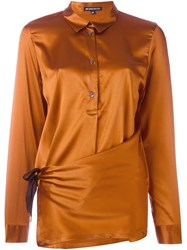 Ann Demeulemeester Stretch Asymmetric Hem Blouse Yellow And Orange