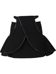 David Koma Cut Out Layer Skirt Black