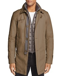 Herno Layered Down Trench Coat 100 Bloomingdale's Exclusive Mushroom