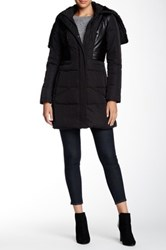 7 For All Mankind Faux Fur Lined Parka Black