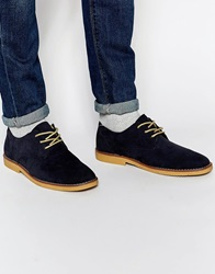 New Look Faux Suede Desert Boots Navy