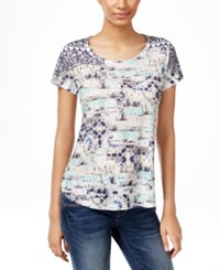 Styleandco. Style Co. Printed Studded T Shirt Only At Macy's Moroccan Sands