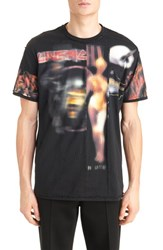 Givenchy Men's 'Heavy Metal' Pieced Graphic T Shirt