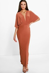 Sia Wrap Front Batwing Maxi Dress