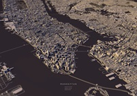 Manhatten City Map Ii Art Print By Luis Dilger Society6