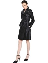 Burberry Kensington Silk Faille Trench Coat