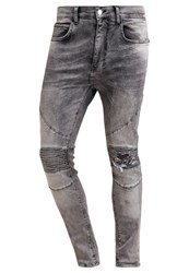 Religion Cavern Slim Fit Jeans Grey Veins Grey Denim