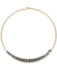 Kenneth Cole New York Gold Tone Woven Bead Wire Collar Necklace