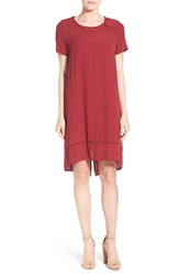 Women's Matty M Short Sleeve Drop Tail Dress Ruby