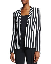 Thierry Mugler Classic Striped Blazer Black White
