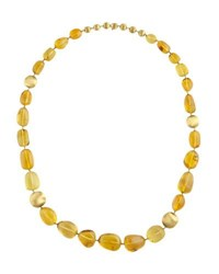 Marco Bicego Africa 18K Yellow Gold And Amber Necklace
