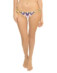 Blush Lingerie Tribal Print Side String Swim Bottom Multi