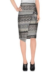 Trou Aux Biches Knee Length Skirts Grey