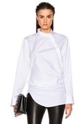 Ann Demeulemeester Wrap Blouse In White